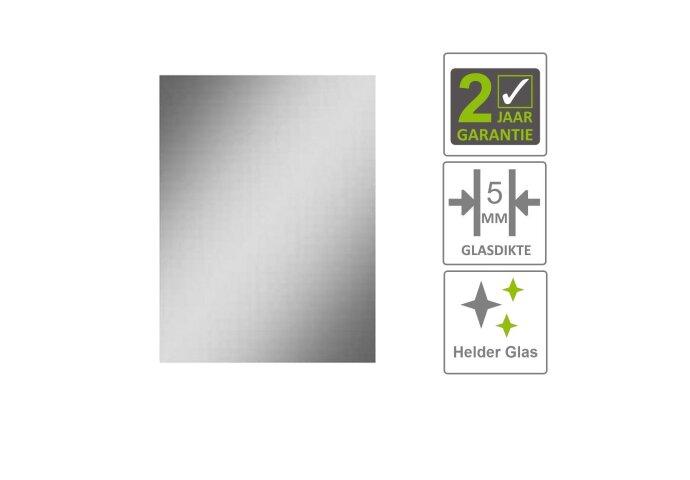 BWS Basis Spiegel Rechthoek 57x40 cm 5mm Aluminimum