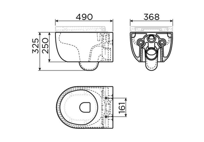 Toiletzitting Clou Hammock Met Deksel Wit (Met Soft-closing systeem en Quick Release systeem)