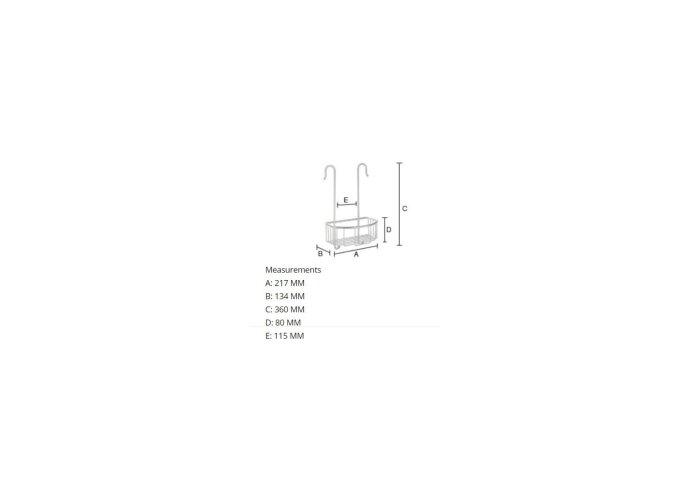 Zeepkorf Smedbo Sideline voor Douchekraan 21,7x13,4 cm Chroom