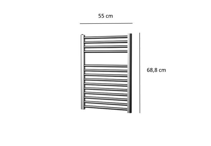 Designradiator Plieger Palermo 244 Watt Zijaansluiting 68,8x55 cm Chroom