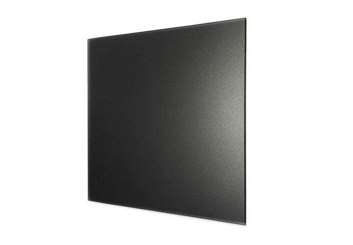 Ventilatierooster Design BWS Ventilatie Vierkant 12.5cm Vlak Glas Mat Zwart