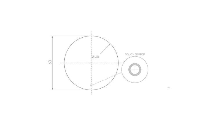 Ronde Badkamerspiegel Boss & Wessing Dia met LED Verlichting 60 cm