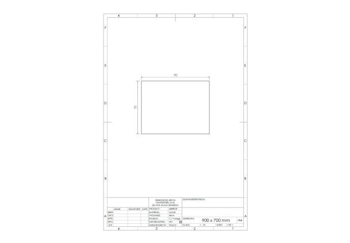 Spiegel Gliss Design Backlight LED Verlichting 90cm