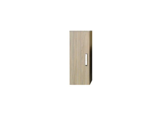 Kolomkast Sanicare Q9/Q10/Q11 Soft-Close Deur Chromen Greep 90x33,5x32 cm Grey-Wood