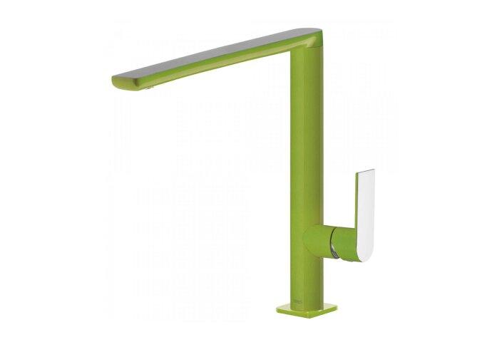 Keukenmengkraan Tres Top Colors 1-Hendel Uitloop 28.7 cm Vierkant Groen Chroom