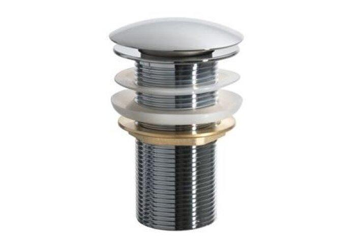 Luxe lange dichte clickwaste 5/4 6,5cm chroom