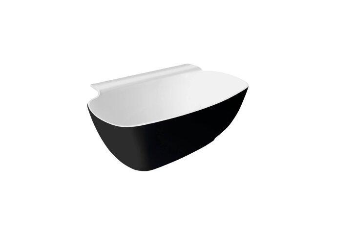 Vrijstaand Bad Sapho Nigra Gegoten Marmer 158x80x59 cm Wit / Zwart