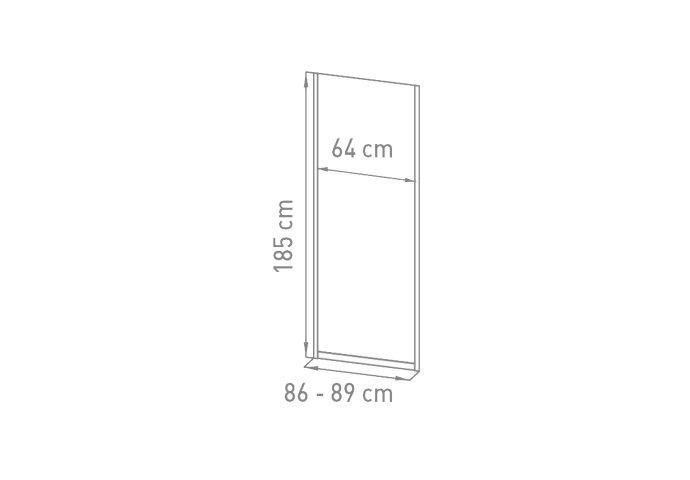 Nisdeur VM Go Avis 90x185cm 4mm Veiligheidsglas Met Stroken Chroom