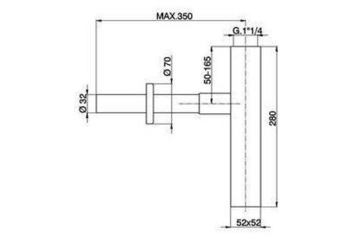 Cisal Cubic Designsifon ZA004080