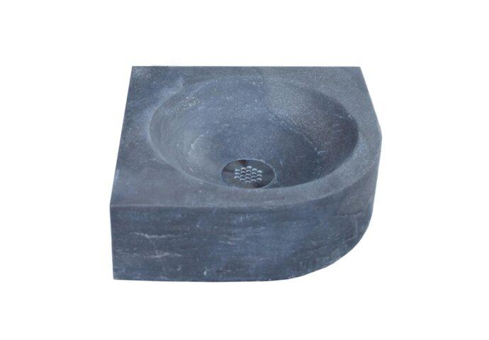 Fontein Sanilux Rondo Hardsteen 30x30x10cm Kwartrond met kraangat