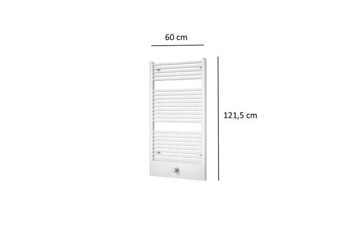 Designradiator Plieger Lucca 660 Watt Middenaansluiting 121,5x60 cm Wit