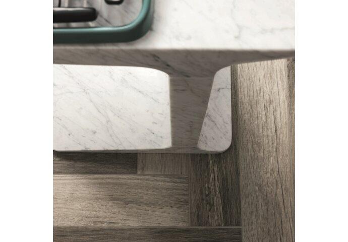 Vloertegel Mara Treverk Charme MM95 Visgraat Grey 10x70 cm (doosinhoud 1.19 m2)
