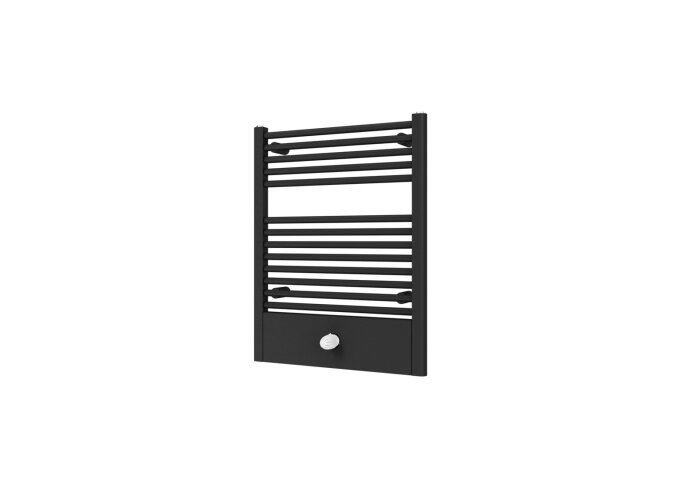 Designradiator Boss & Wessing Locco Middenaansluiting 77,5x60 cm 415 Watt Black Graphite