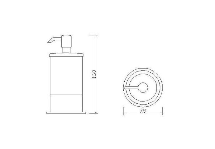 Ida vrijstaande zeepdispenser chroom (Accessoires)