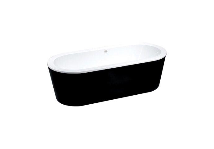 Vrijstaand ligbad Best Design Black & White 178x80x55cm | Tegeldepot.nl