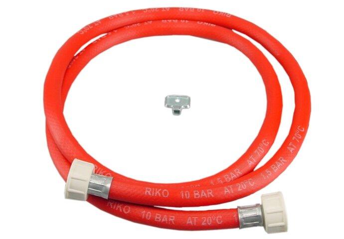 Vulslangset rood + 3/4 wartels recht compleet 500cm.