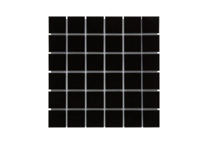 Mozaïek Barcelona 30.9x30.9cm Geglazuurd Porselein Glanzend Zwart (Prijs Per 0.95 m2)