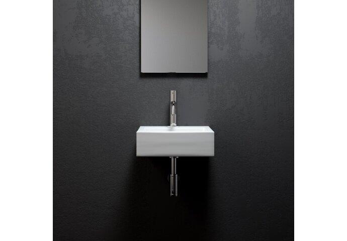 Fontein Clou Flush 1 28x27x9cm Aluite Mat Wit (Met Voorbewerkt Kraangat)