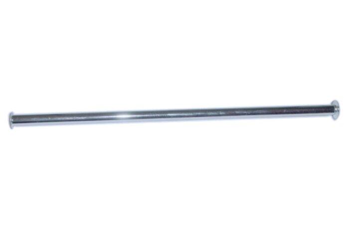 Chroom aansluitpijpje 3/8-1/2 buigb.50cm