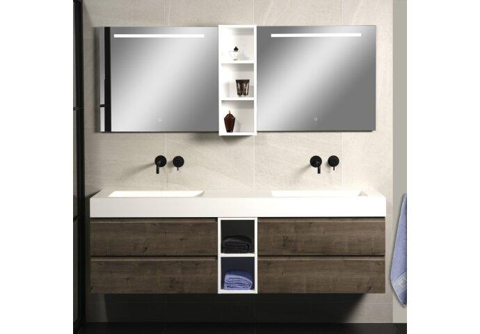 Badkamerspiegel Xenz Lazise 70x70cm met LED Verlichting en Spiegelverwarming