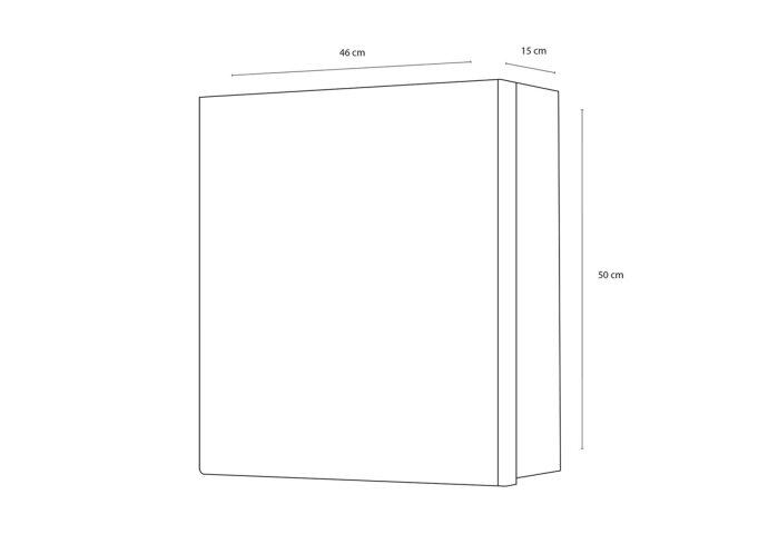 Spiegelkast Differnz Maja met 1 Deur 46x15x50 cm Wit