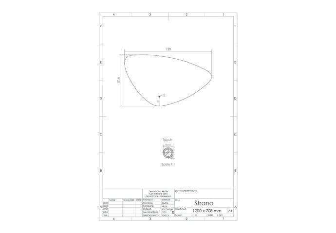 Spiegel Gliss Design Strano Organic Framework Rond Verlichting 120cm