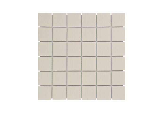 Mozaïek Barcelona 30.9x30.9cm Geglazuurd Porselein Glanzend Creme (Prijs Per 0.95 m2)