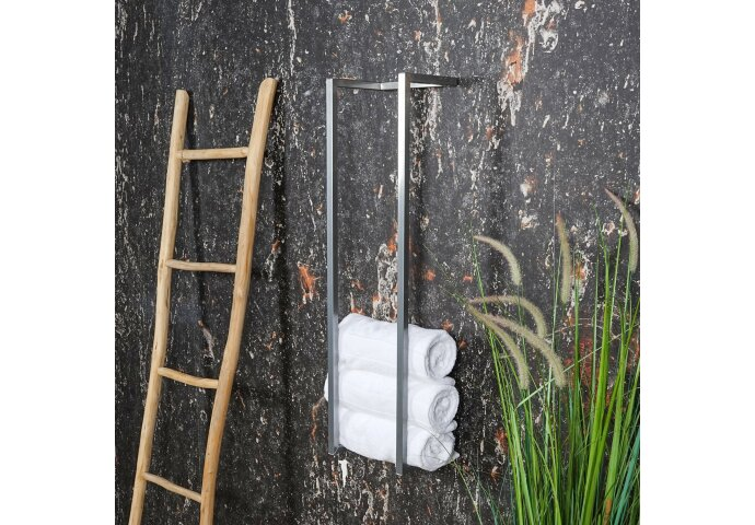 Handdoekenrek BWS Industrieel 95x25x20 cm Chroom