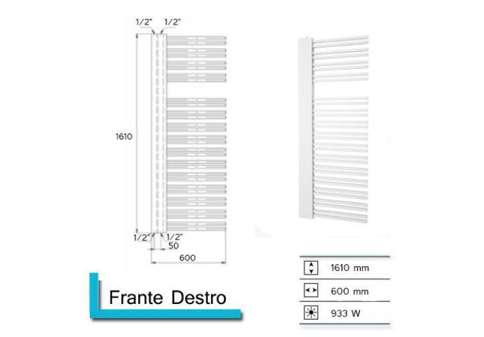 Designradiator Boss & Wessing Franto Dastro 1610 x 600 mm    Tegeldepot.nl