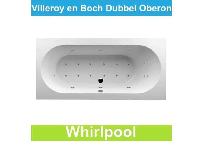 Ligbad Villeroy & Boch Oberon 190x90 cm Balboa Whirlpool systeem Dubbel | Tegeldepot.nl