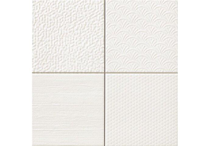 Wandtegel Glint Blanco 44,2x44,2 (Doosinhoud 1,37 M²)