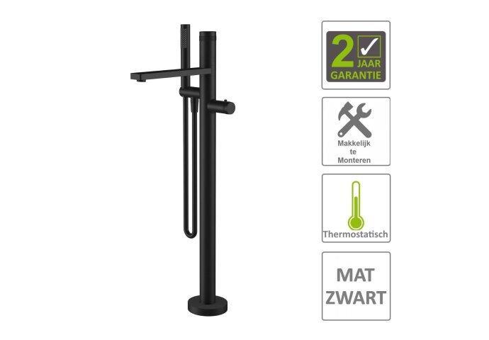 Bad Thermostaatkraan Boss & Wessing Exclusive Vrijstaand Compleet Mat Zwart