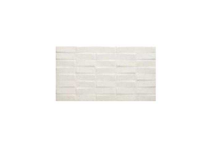 Wandtegel Cristacer Creta Decor M-195 33x60 cm Porselein Blanco (Doosinhoud: 1,00 m2)