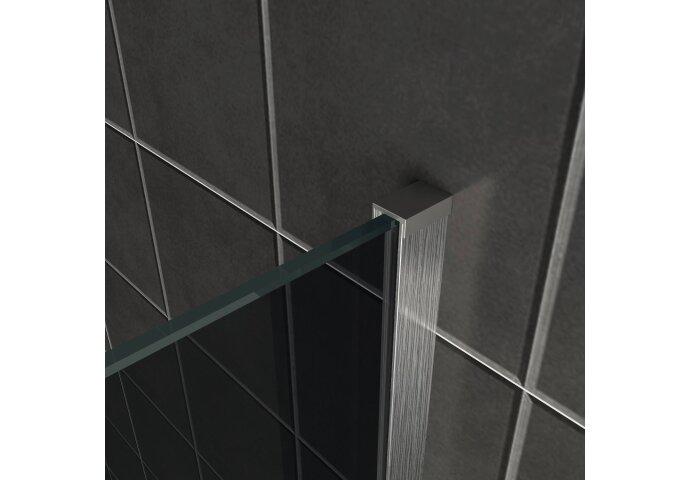 BWS Inloopdouche Pro Line Rookglas 80x200 8mm Nano Coating RVS Profiel en Stang