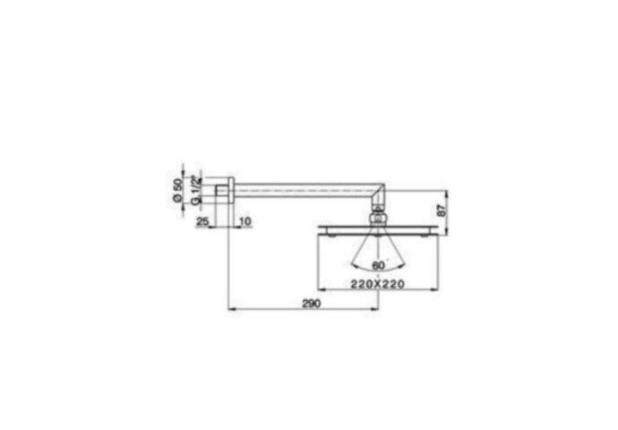 Cisal Hoofddouche 220mm RVS DS0131702A
