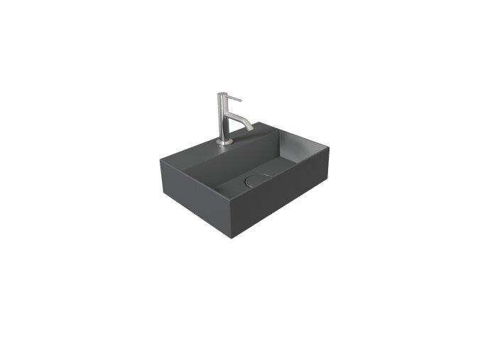 Fontein Salenzi Spy 40x30 cm Mat Antraciet (inclusief bijpassende waste)