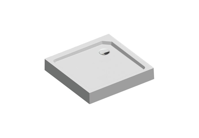 Douchebak Get Wet by Sealskin Fusion Vierkant 80x80 cm Met voorpaneel Wit