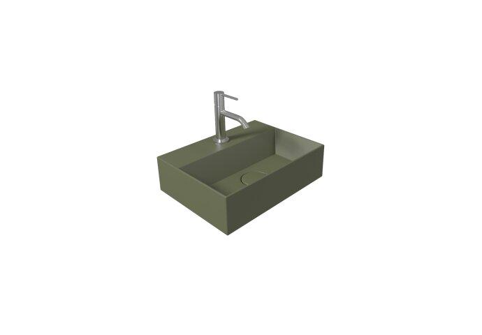 Fontein Salenzi Spy 40x30 cm Mat Legergroen (inclusief bijpassende waste)