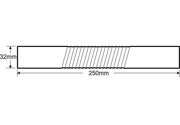 Chroom muurbuis recht buigbaar 32mm