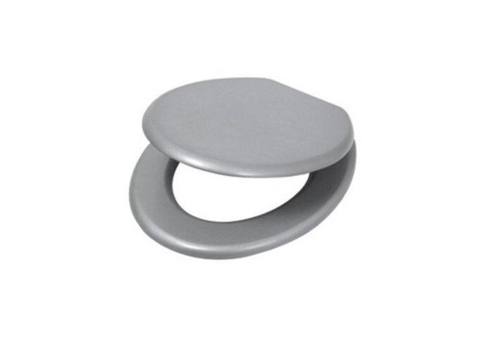 Closetzitting Plieger Clasic MDF gelakt alumium / metalic met metalen bev. set | Tegeldepot.nl