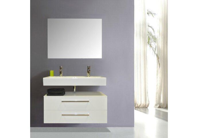 Badkamermeubelset Sanicare Q17 100 cm Grey-Wood (spiegel optioneel)
