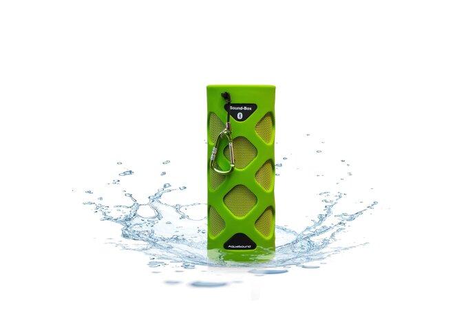 Bluetooth Sound-Box Aquasound Waterproof (IPX5) + USB oplaadkabel Groen