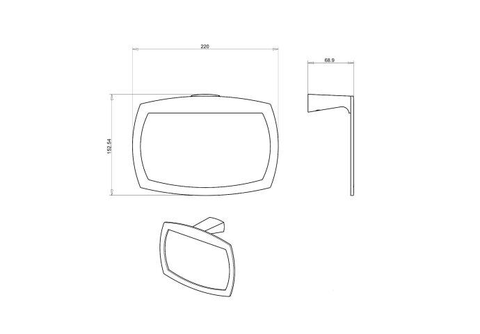Handdoekhouder Sapho LONDON I.B.B. Ovaal 22x15.2x6.9 cm Chroom