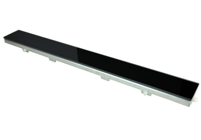 Glasrooster zwart 1100x70 tbv RVS douchegoot