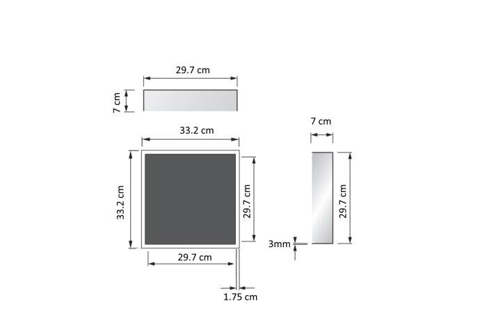 Inbouwnis Sanilux RVS voor in wand 30x30x7cm 2011