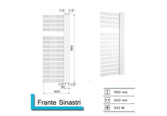 Handdoekradiator Boss & Wessing Franto Sinistro 1610 x 600 mm