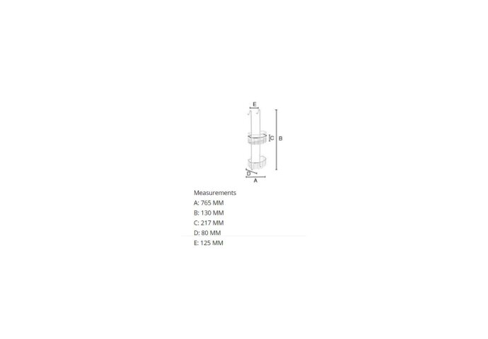 Douchekorf Smedbo Sideline Dubbel 21,7x13 cm Chroom