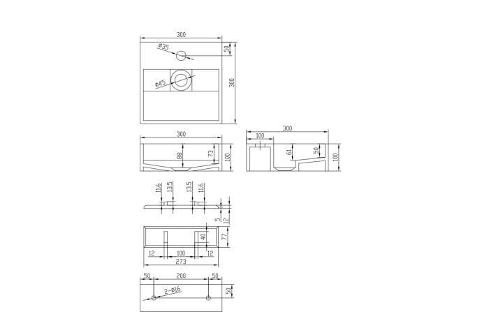 Wastafel Ideavit Solidcube 30x30x10 cm Solid Surface Mat Wit