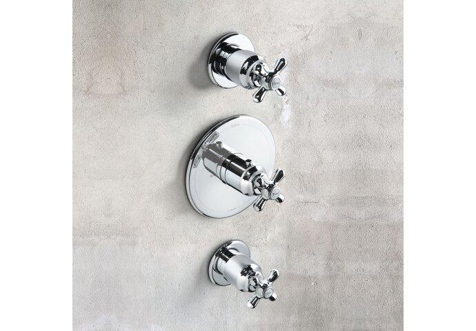 Douchethermostaat Hotbath Amice 2-stopkraan Inbouw Kruisgreep Chroom