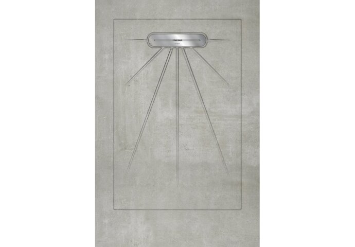 Vtwonen Douchetegel Douglas & Jones 90X135 cm Beton Grijs